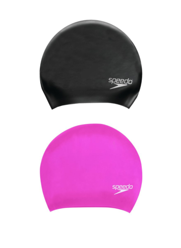 SPEEDO LONG HAIR MOULDED SILICONE SWIM CAPS