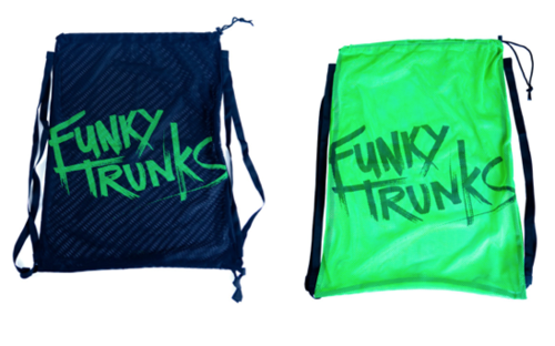 Mesh Gear Bag FunkyTrunks – musta/vihr